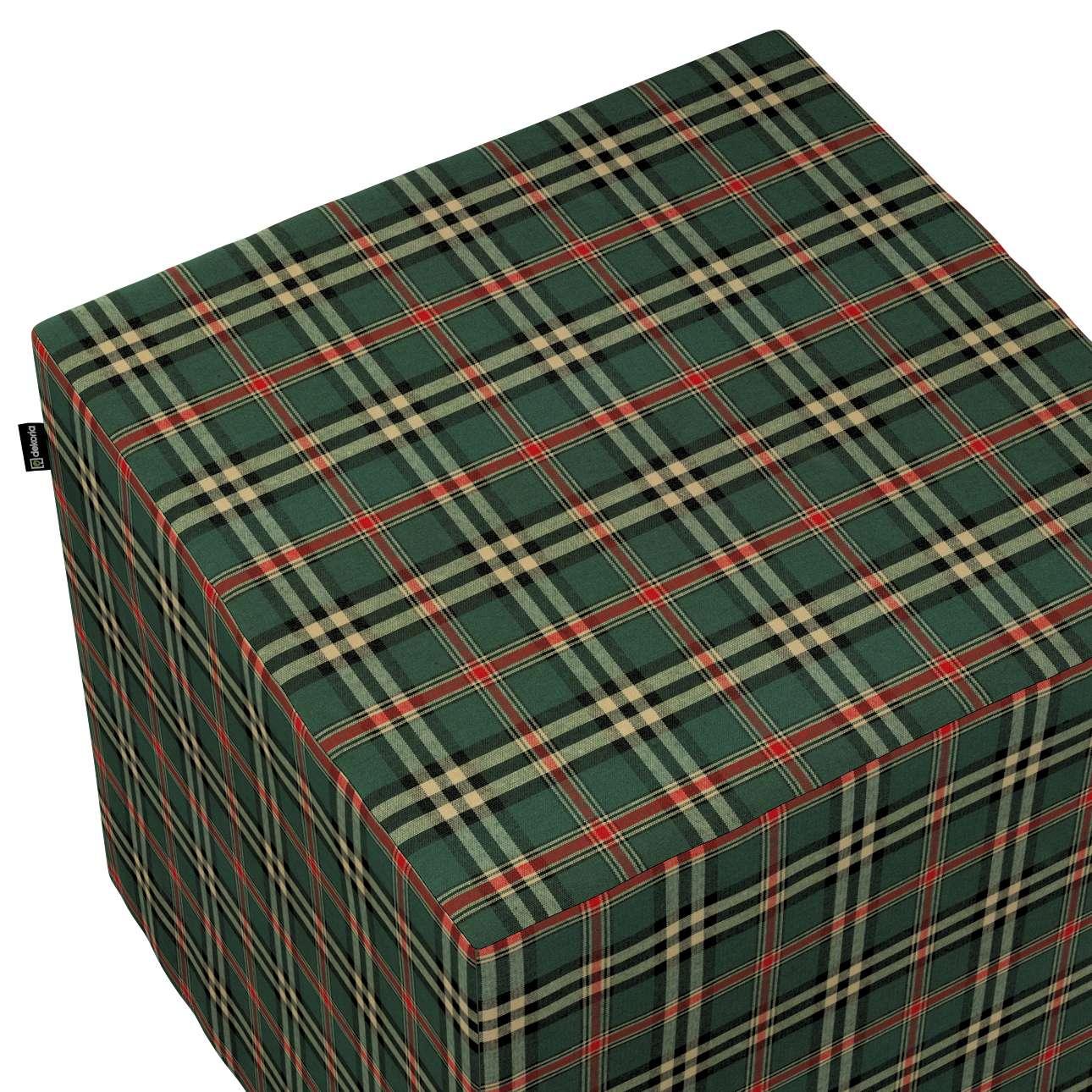 Pokrowiec na pufę kostkę w kolekcji Bristol, tkanina: 142-69