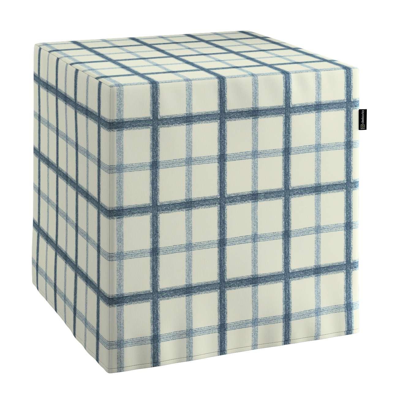 Pokrowiec na pufę kostke kostka 40x40x40 cm w kolekcji Avinon, tkanina: 131-66