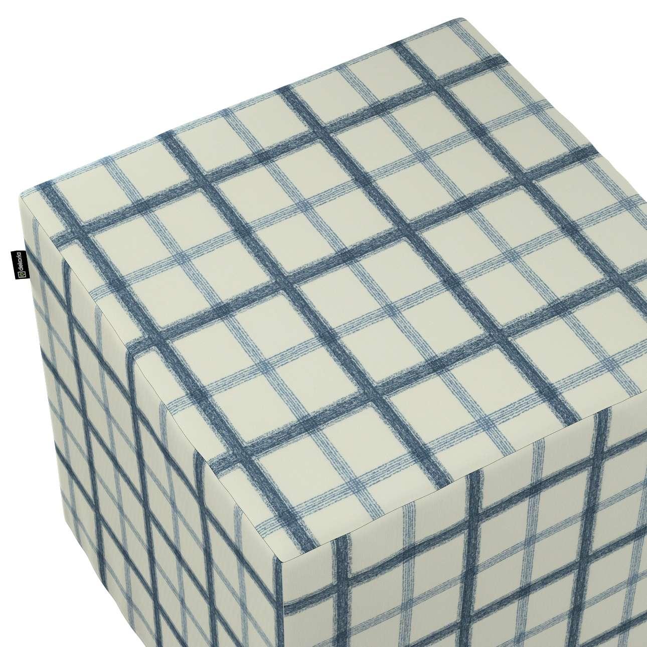 Pokrowiec na pufę kostkę w kolekcji Avinon, tkanina: 131-66