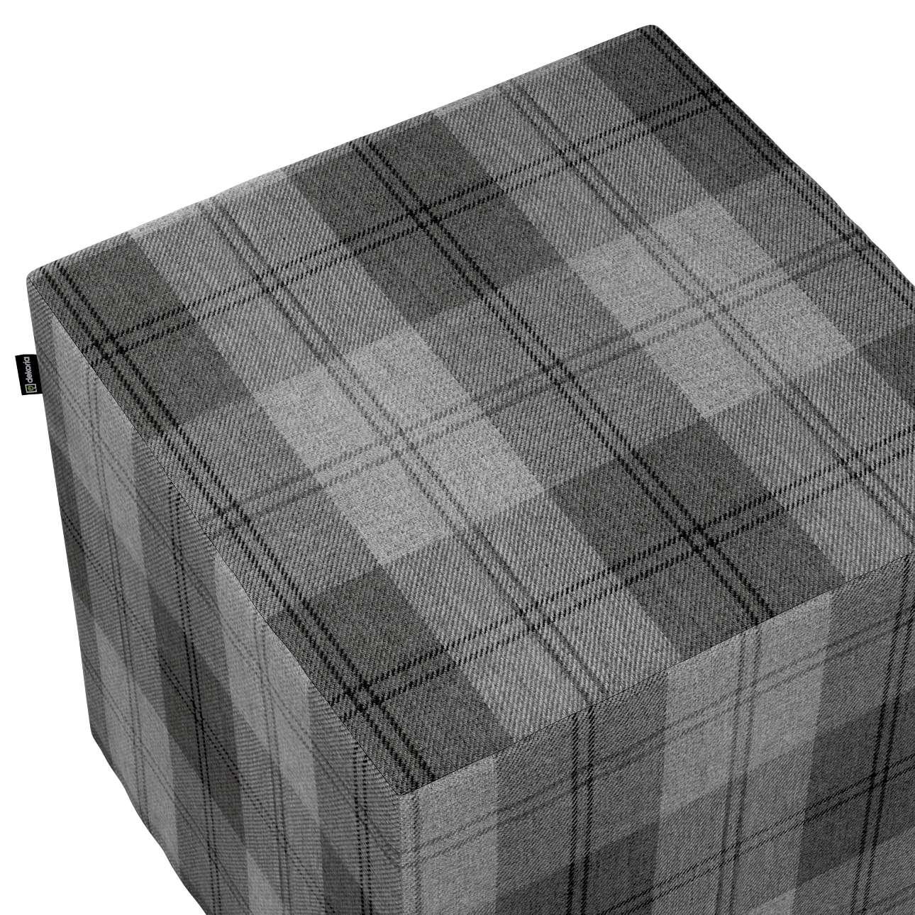 Pokrowiec na pufę kostkę w kolekcji Edinburgh, tkanina: 115-75