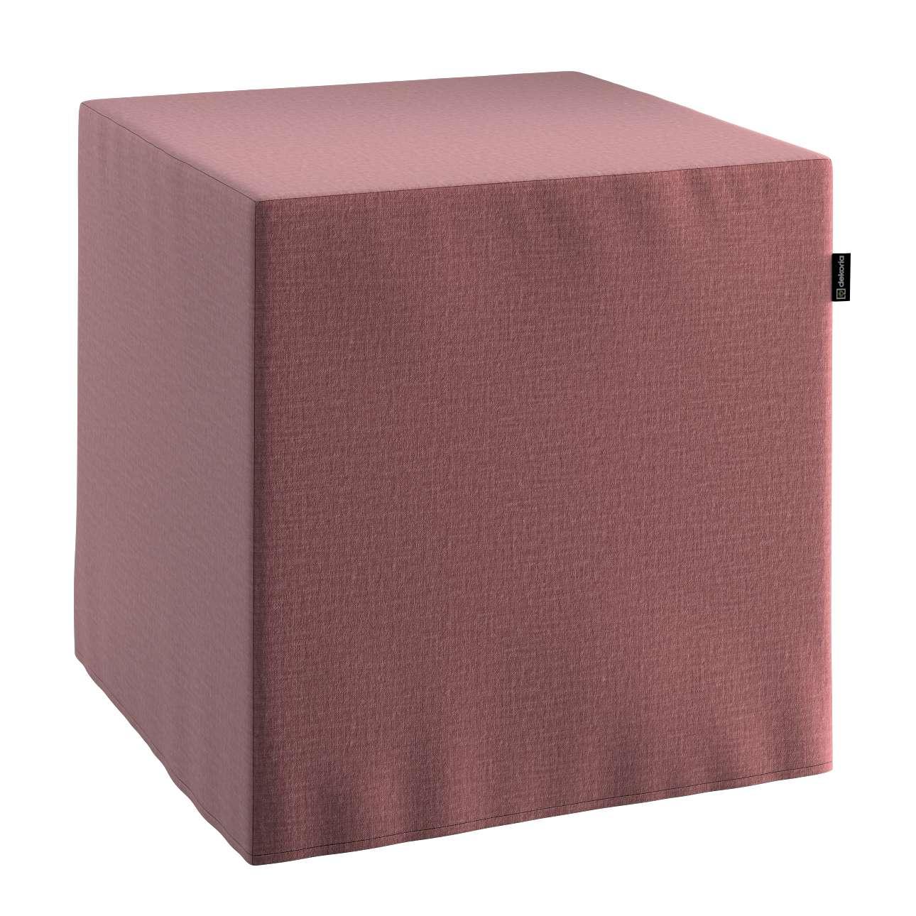 Pokrowiec na pufę kostkę w kolekcji Ingrid, tkanina: 705-38