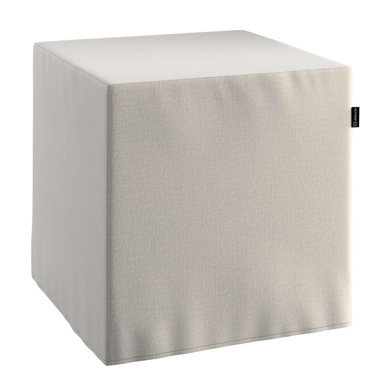 Pokrowiec na pufę kostkę w kolekcji Ingrid, tkanina: 705-40