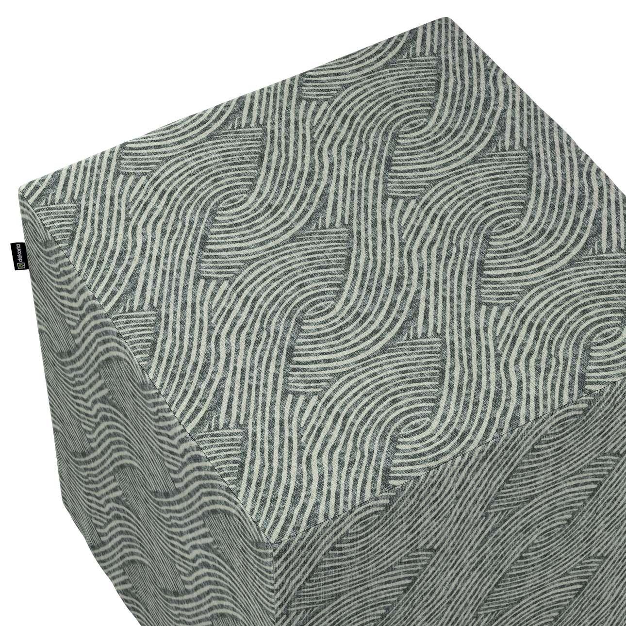 Pokrowiec na pufę kostkę w kolekcji Comics, tkanina: 143-13