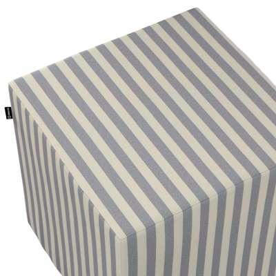 Betræk til siddepuf fra kollektionen Quadro II, Stof: 136-02