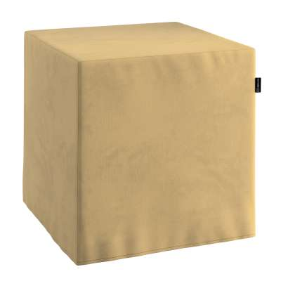 Pokrowiec na pufę kostkę 160-93 piaskowy szenil Kolekcja Living II