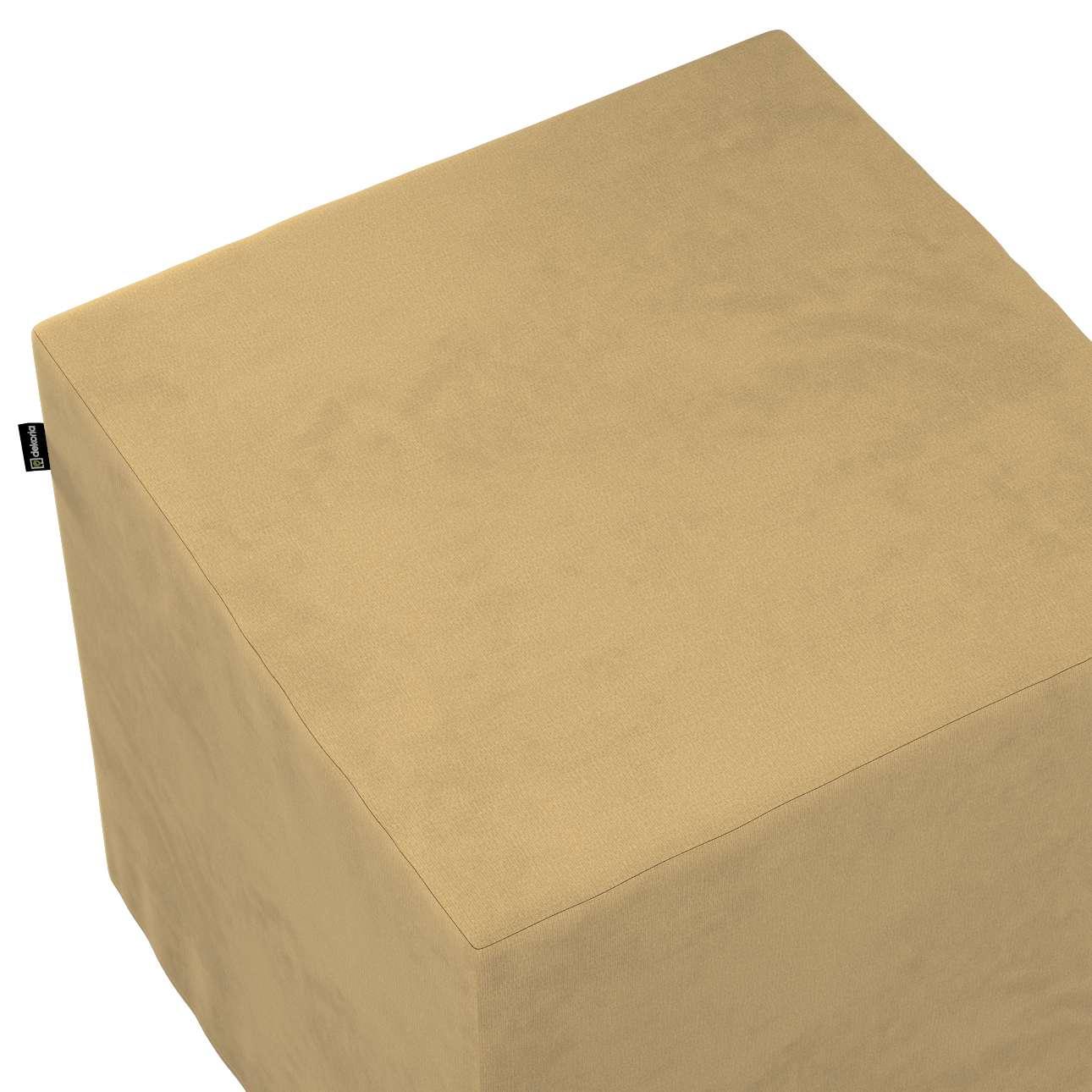 Bezug für Sitzwürfel von der Kollektion Living II, Stoff: 160-93