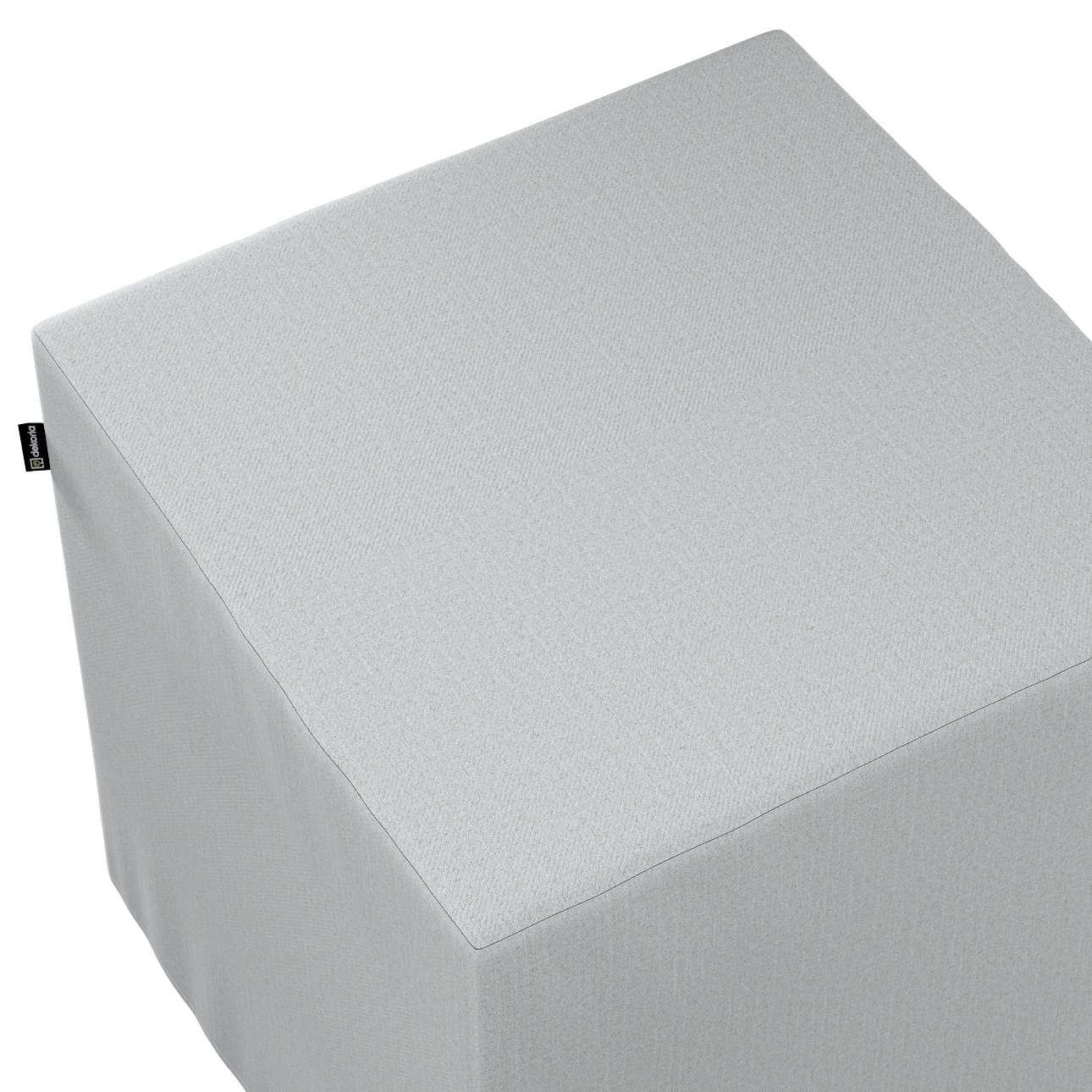 Pokrowiec na pufę kostkę w kolekcji Living, tkanina: 161-18
