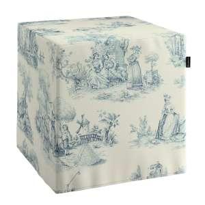 Pufo užvalkalas 40x40x40 cm kubas kolekcijoje Avinon, audinys: 132-66