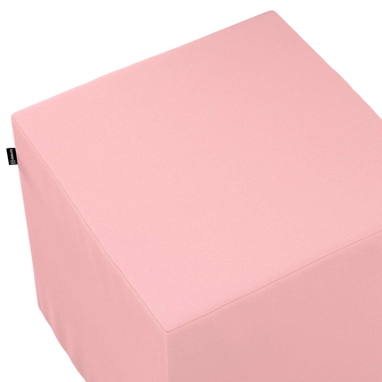 Pokrowiec na pufę kostkę w kolekcji Loneta, tkanina: 133-39