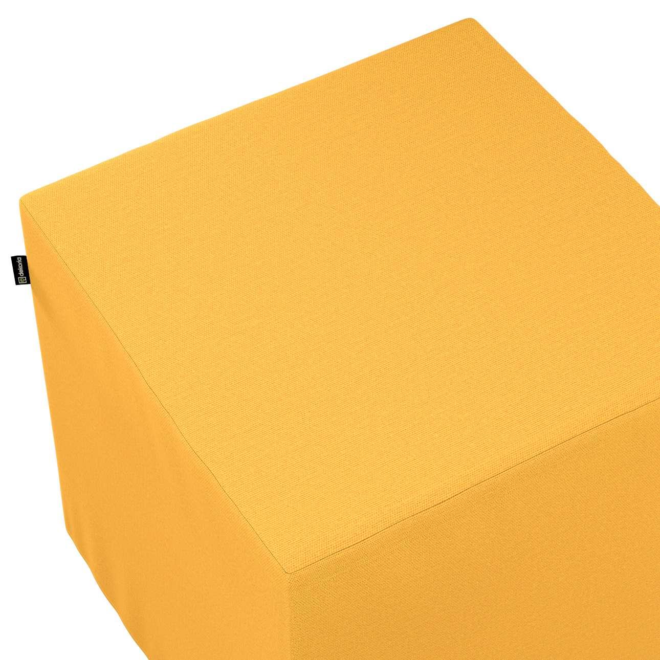 Pokrowiec na pufę kostkę w kolekcji Loneta, tkanina: 133-40