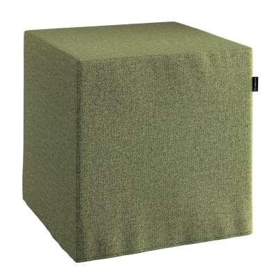 Pokrowiec na pufę kostkę 161-22 zielony melanż Kolekcja Madrid