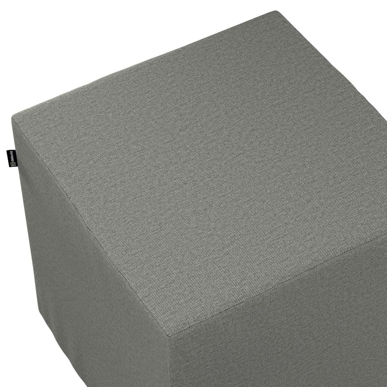 Pokrowiec na pufę kostkę w kolekcji Etna, tkanina: 161-25