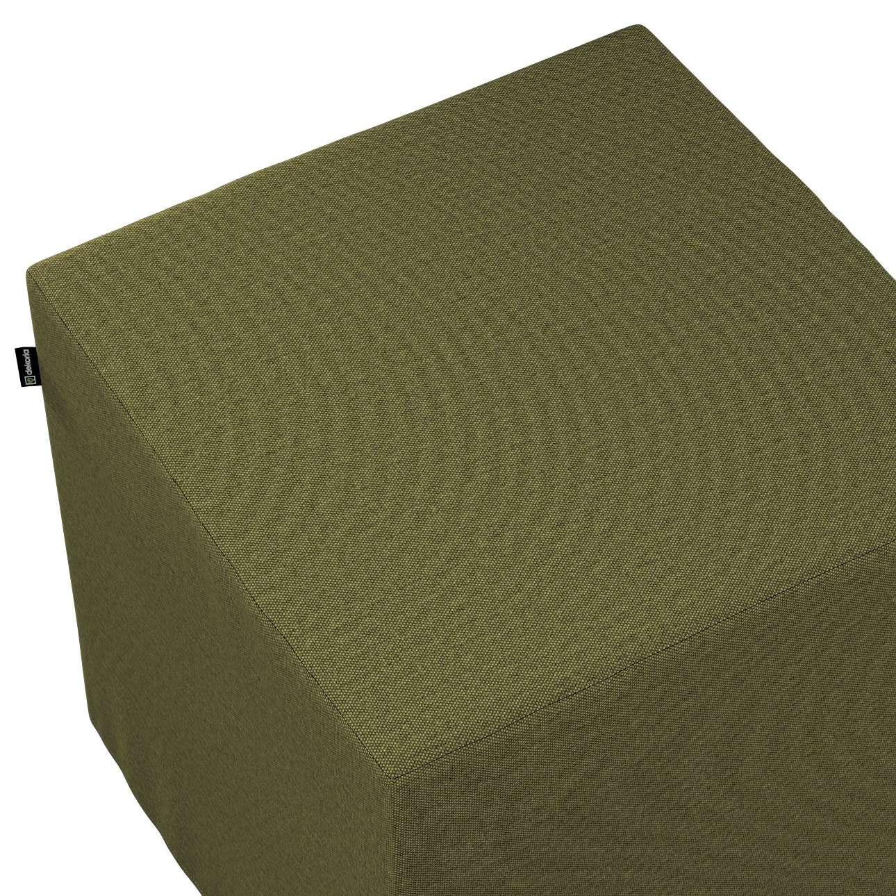 Pokrowiec na pufę kostkę w kolekcji Etna, tkanina: 161-26