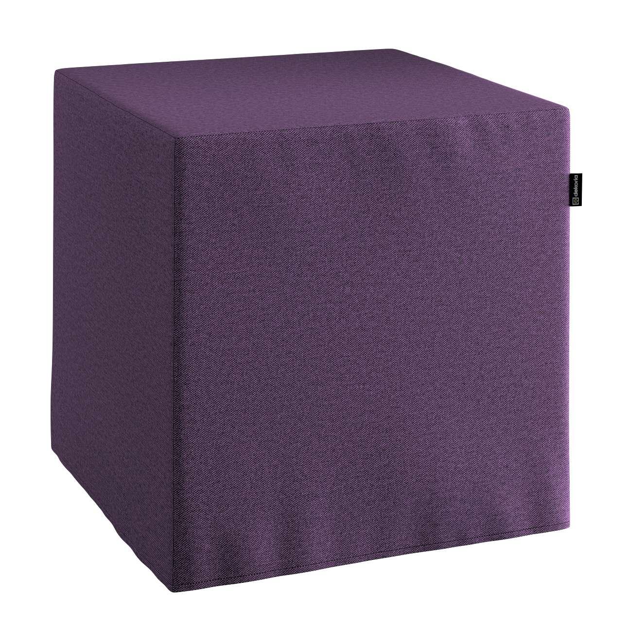 Pokrowiec na pufę kostkę w kolekcji Etna, tkanina: 161-27