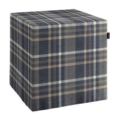 Náhradní potah na sedák -kostka pevná 703-16 modro - bežová kostka Kolekce Edinburgh