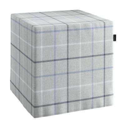 Bezug für Sitzwürfel 703-18 hellblau- rau Kollektion Edinburgh