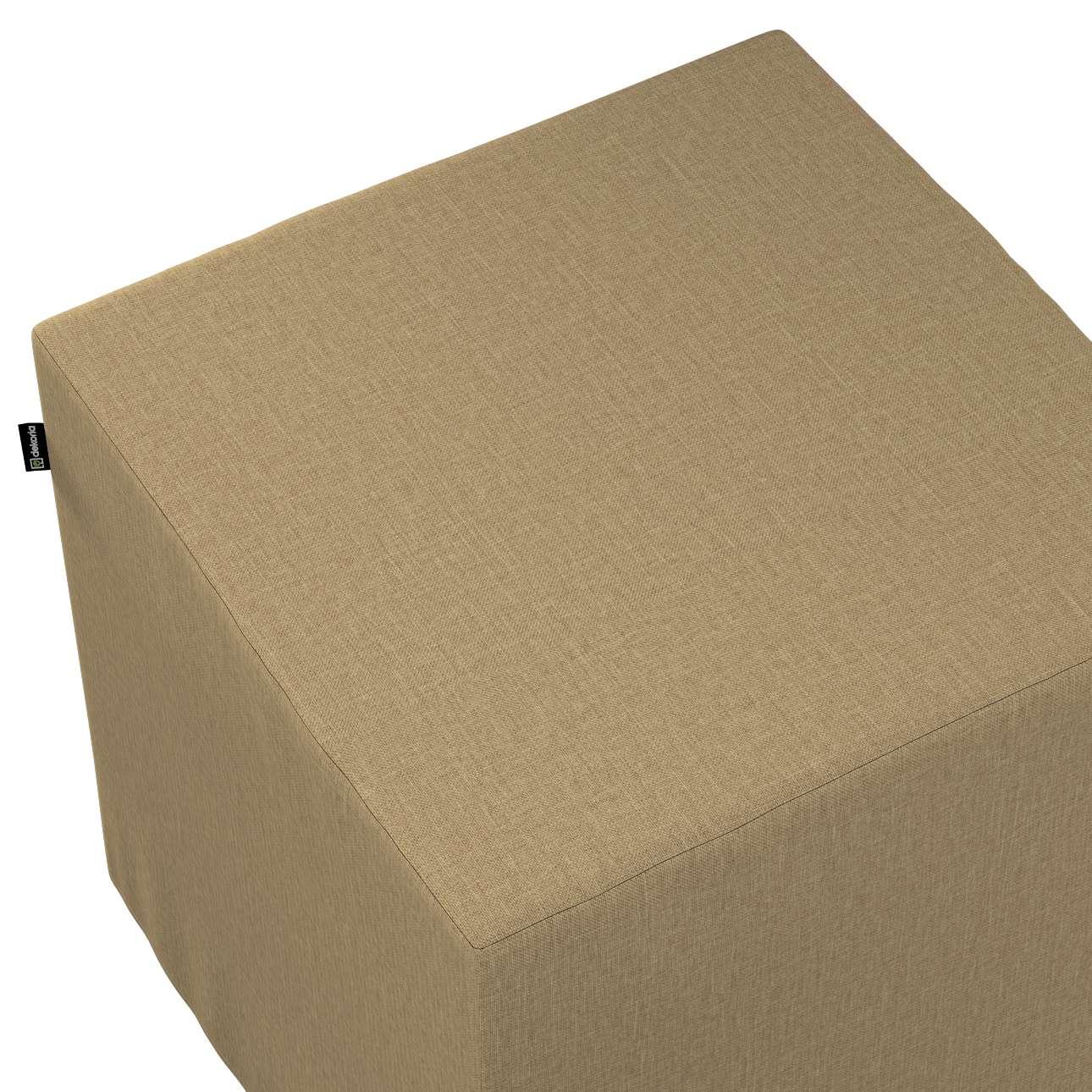Pokrowiec na pufę kostkę w kolekcji Living, tkanina: 161-50