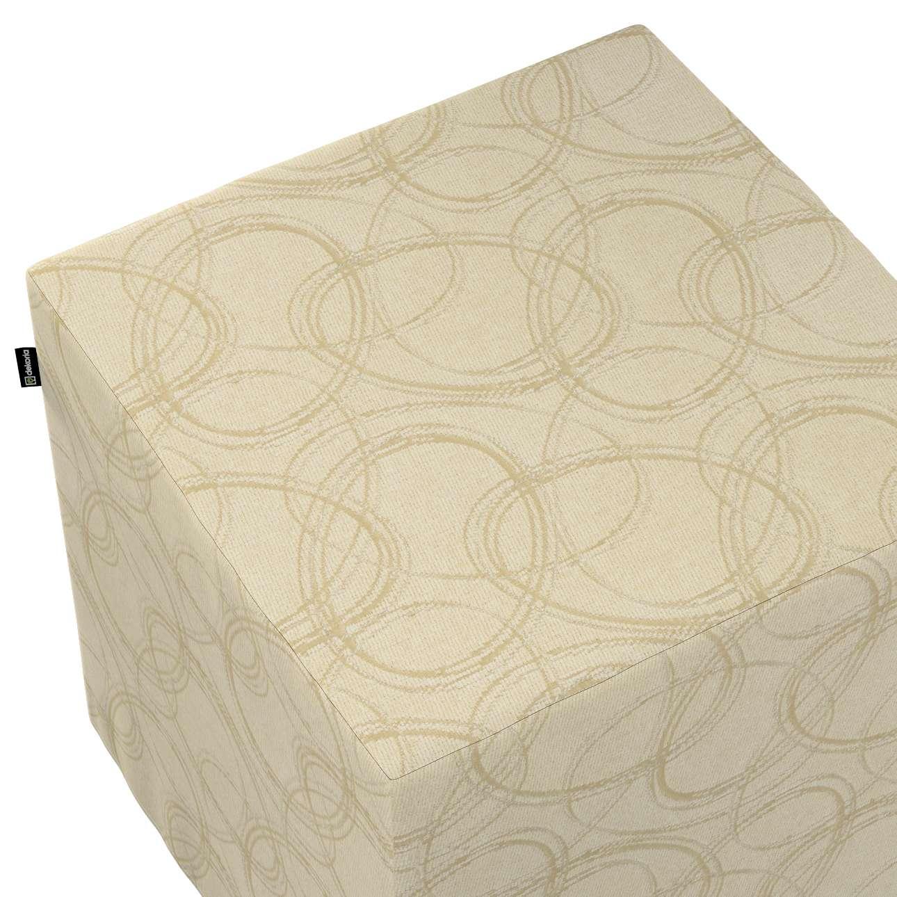 Pokrowiec na pufę kostkę w kolekcji Living, tkanina: 161-81