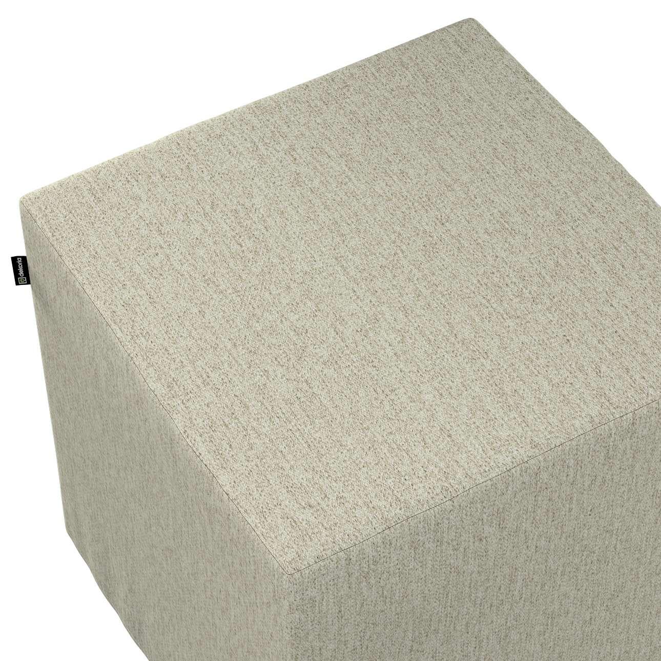Bezug für Sitzwürfel von der Kollektion Living, Stoff: 161-62