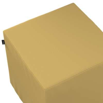 Pokrowiec na pufę kostkę 702-41 zgaszony żółty Kolekcja Cotton Panama