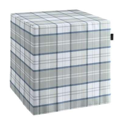 Bezug für Sitzwürfel 143-65 grau-blau Kollektion Bristol
