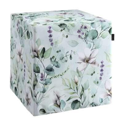 Trekk til sitttepuff 143-66 Naturhvit med pint Magnolie Kolleksjon Flowers