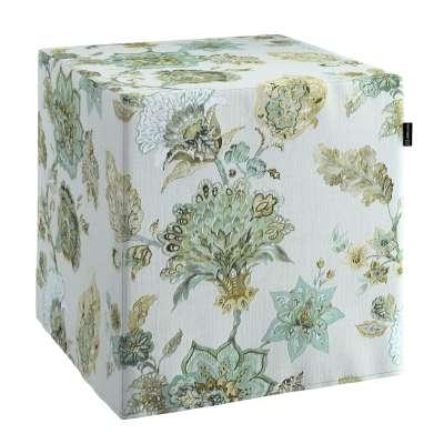 Bezug für Sitzwürfel von der Kollektion Flowers, Stoff: 143-67