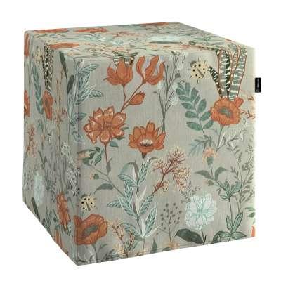 Bezug für Sitzwürfel von der Kollektion Flowers, Stoff: 143-70