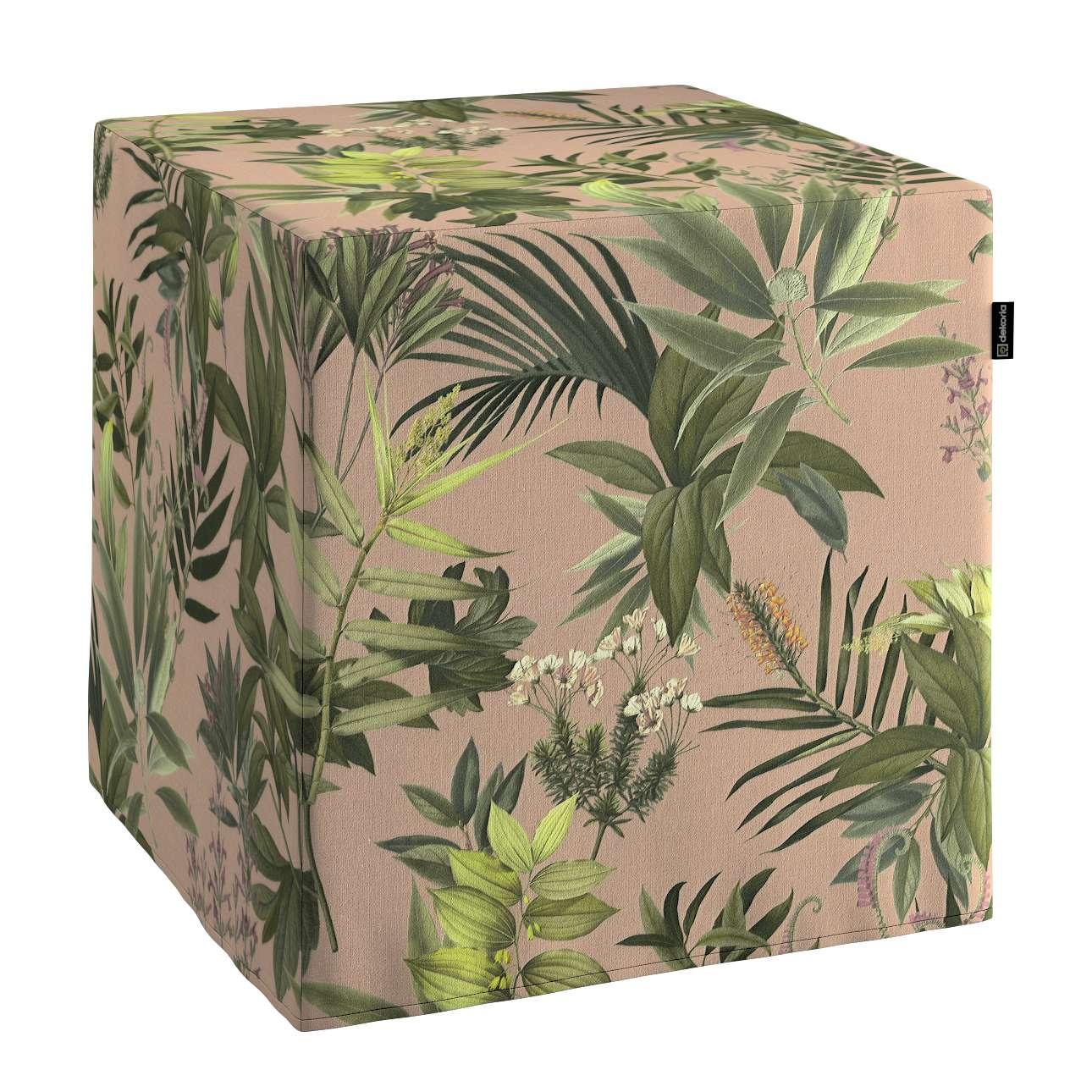 Bezug für Sitzwürfel von der Kollektion Tropical Island, Stoff: 143-71