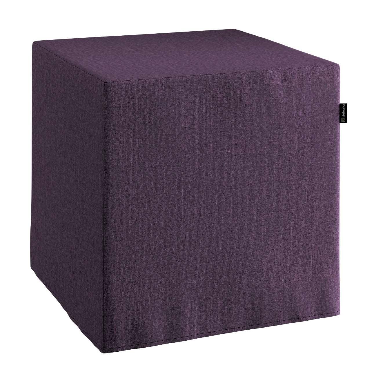 Pokrowiec na pufę kostkę w kolekcji Living, tkanina: 161-67