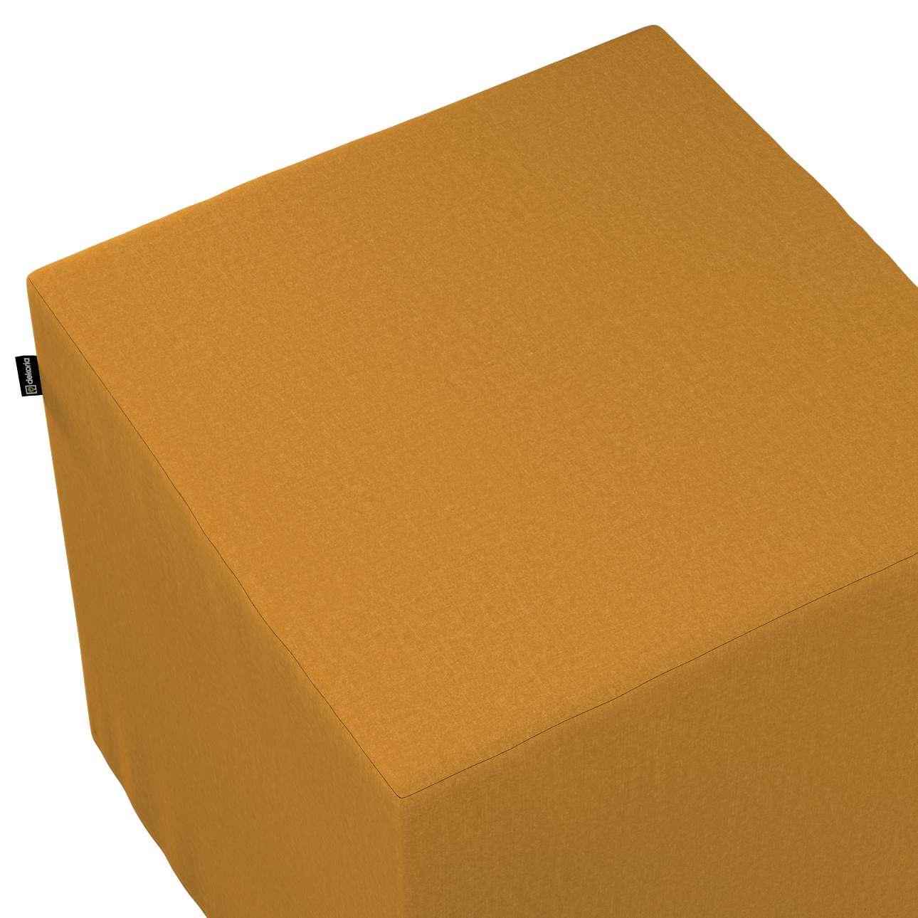 Bezug für Sitzwürfel von der Kollektion Living, Stoff: 161-64