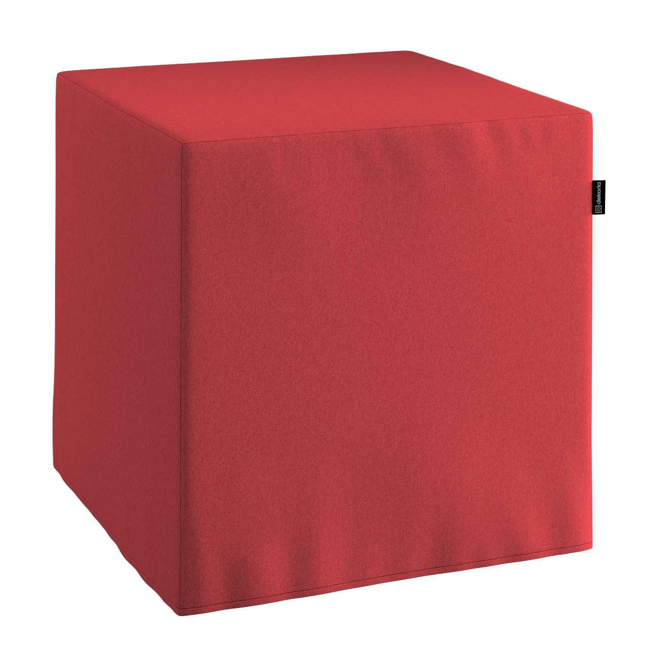 Pokrowiec na pufę kostkę w kolekcji Living, tkanina: 161-56