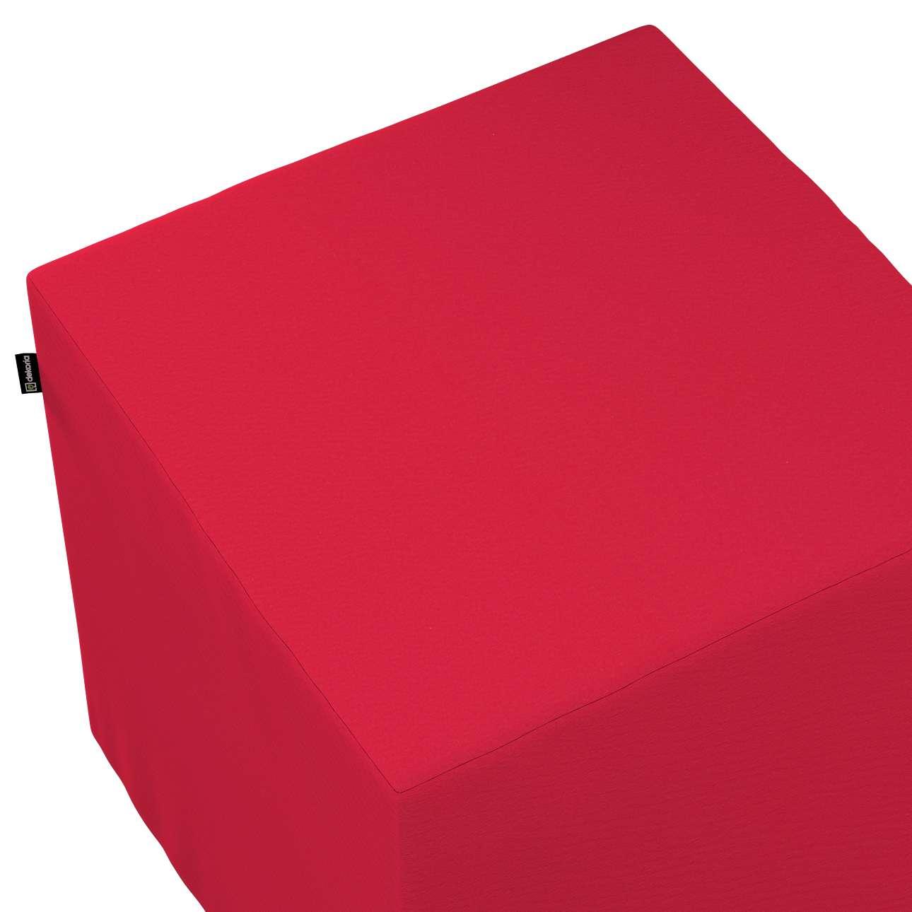 Pokrowiec na pufę kostkę w kolekcji Christmas, tkanina: 136-19