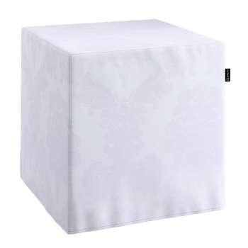 Pokrowiec na pufę kostke kostka 40x40x40 cm w kolekcji Damasco, tkanina: 613-00