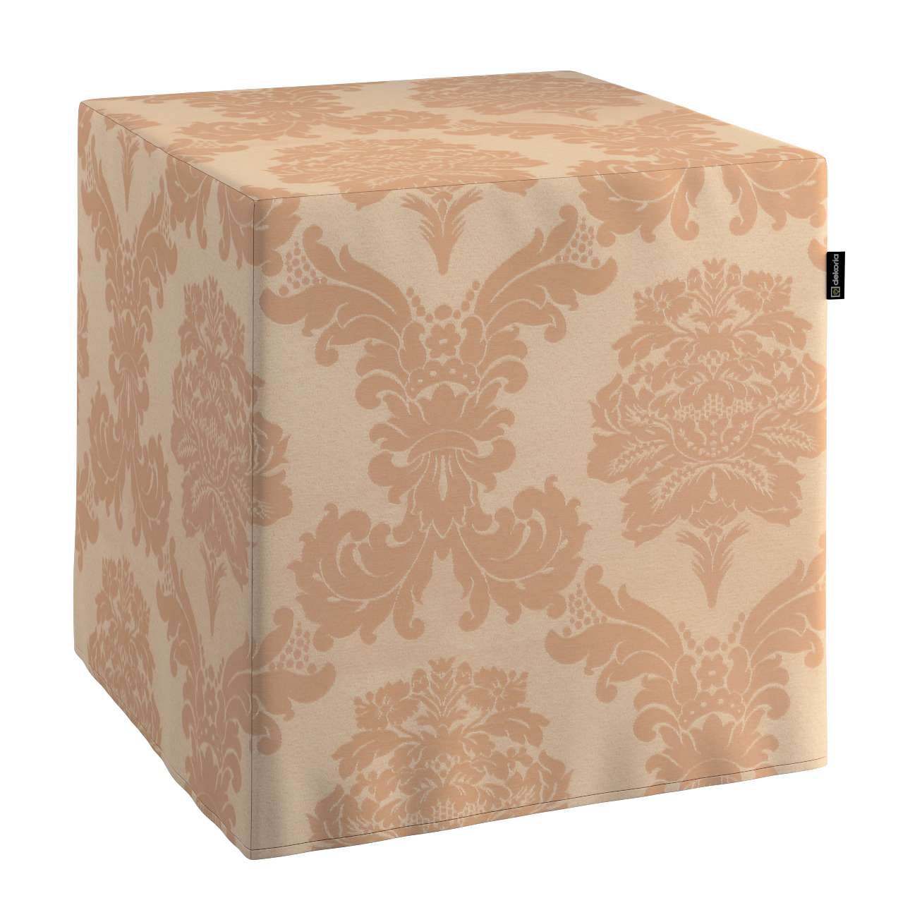 Pokrowiec na pufę kostke kostka 40x40x40 cm w kolekcji Damasco, tkanina: 613-04