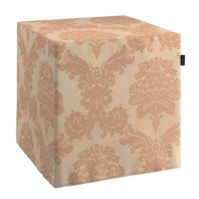 Pokrowiec na pufę kostkę 613-04 jasno-brązowy Kolekcja Damasco