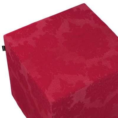 Pokrowiec na pufę kostkę w kolekcji Damasco, tkanina: 613-13