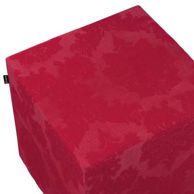 Poťah na taburetku,kocka 613-13 bordová tkanina s vytkaným ornamentom  Kolekcia Damasco