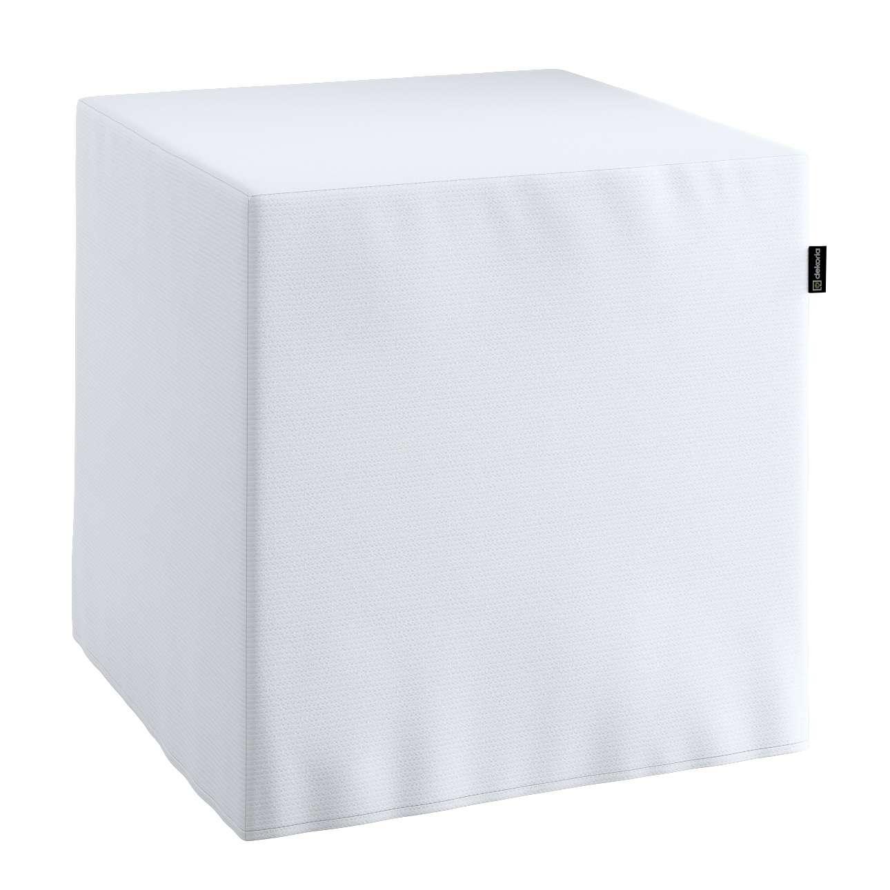 Pokrowiec na pufę kostke kostka 40x40x40 cm w kolekcji Jupiter, tkanina: 127-01