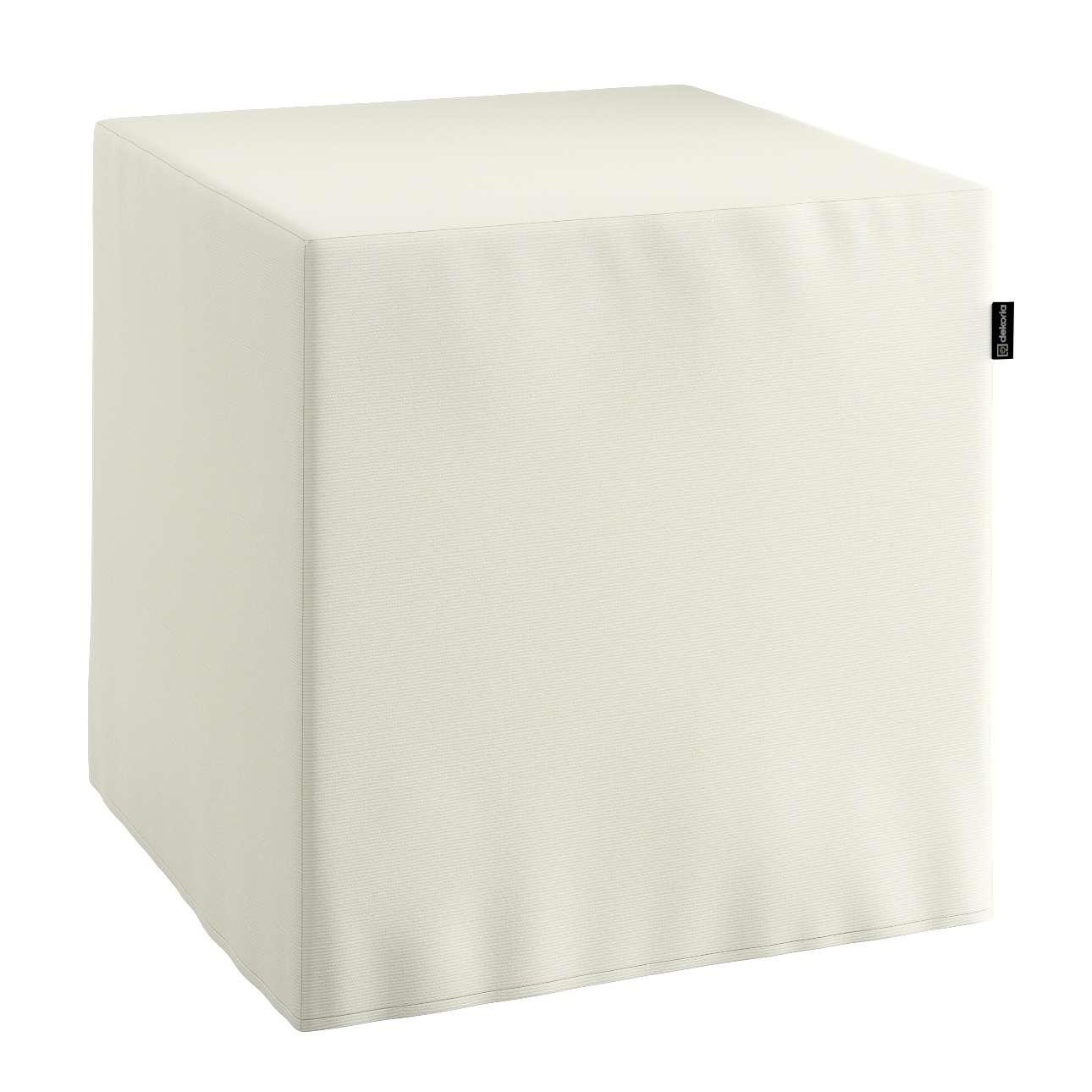 Pokrowiec na pufę kostke kostka 40x40x40 cm w kolekcji Jupiter, tkanina: 127-00