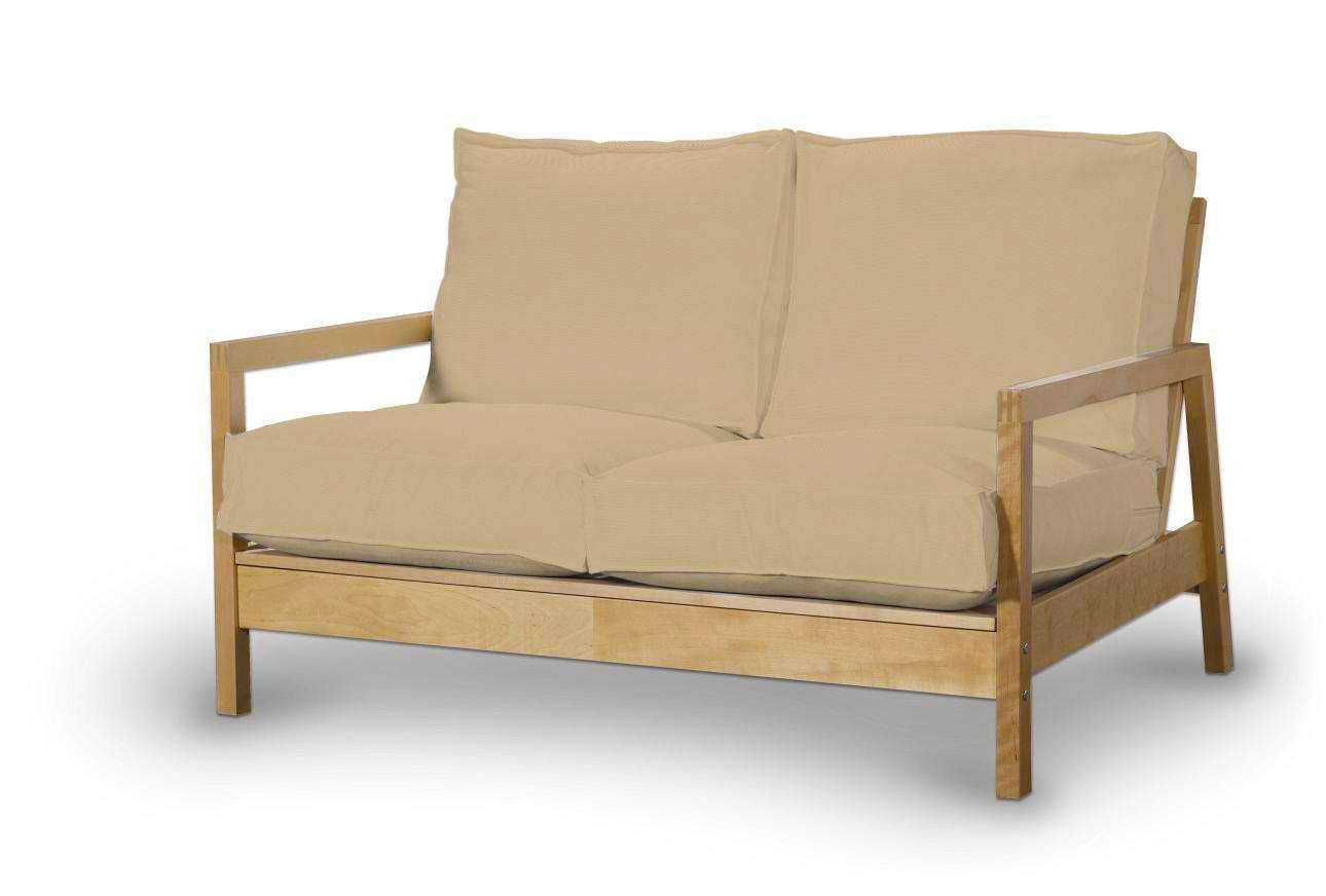 Pokrowiec na sofę Lillberg 2-osobową nierozkładaną w kolekcji Cotton Panama, tkanina: 702-01