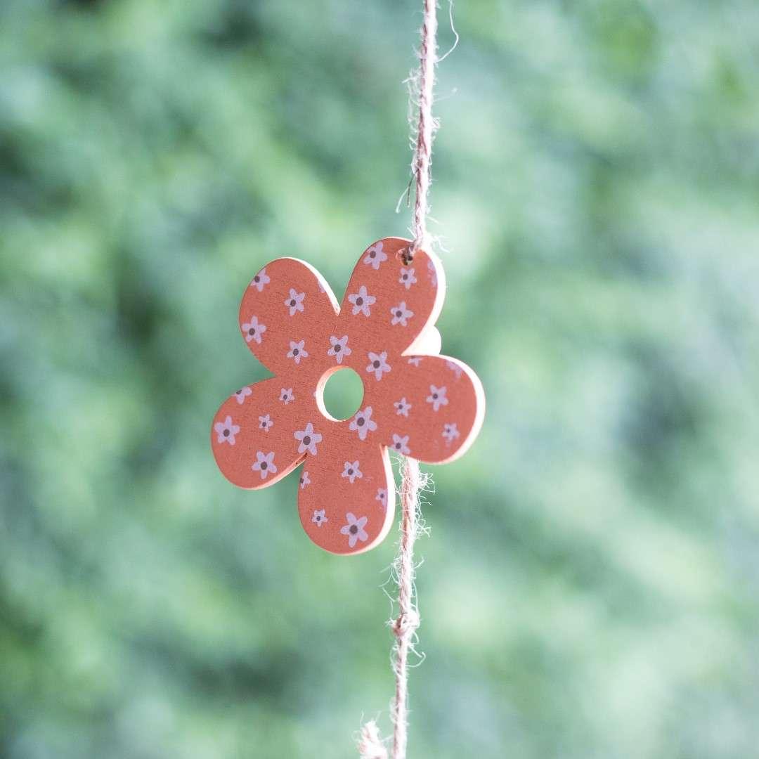 Ozdoba wisząca Orange Flower 63cm  8x6,5x63cm