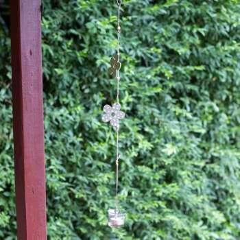 Ozdoba wisząca Green Flower 63cm 8x6,5x63cm