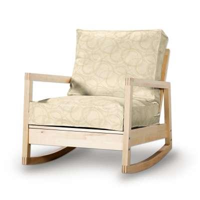 Pokrowiec na fotel Lillberg 161-81 geometryczny wzór na kremowym tle Kolekcja Living