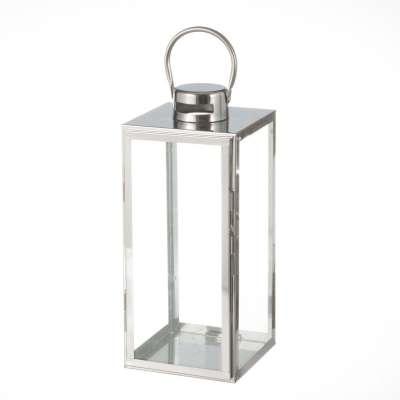 Lampion Elegance Silver 17x17x38cm