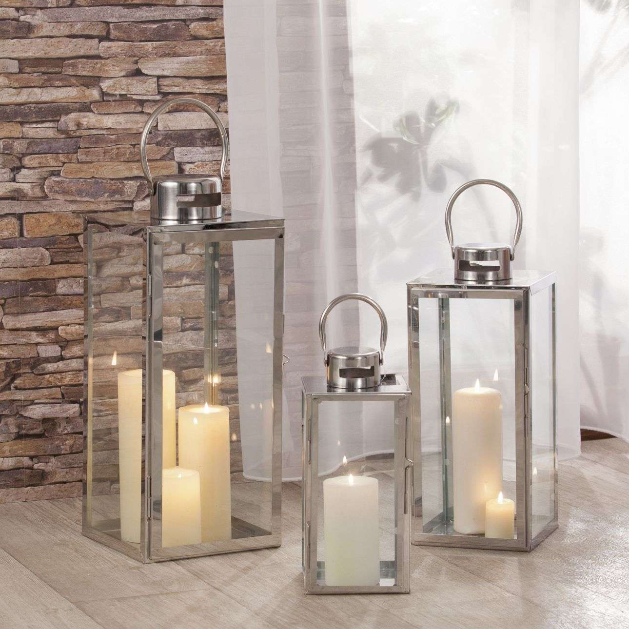 Latarnia Elegance Silver 13x13x29 cm 13x13x29cm