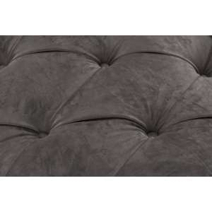 Sofa Chesterfield Glamour Velvet Dark Grey 3os.  230x94x75cm