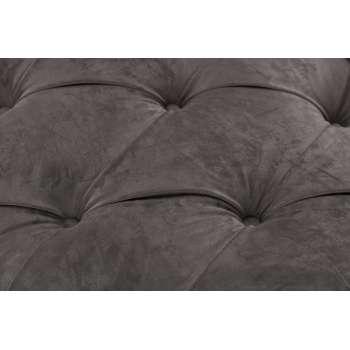 Sofa Chesterfield Glamour Velvet Dark Grey 3-Sitzer
