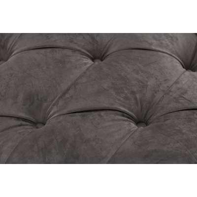 Sofa Chesterfield Glamour Velvet Dark Grey 3-os.