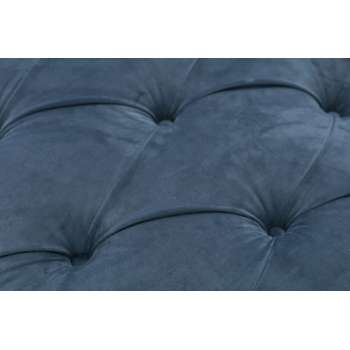 Sofa Chesterfield Glamour Velvet Midnight 3-Sitzer